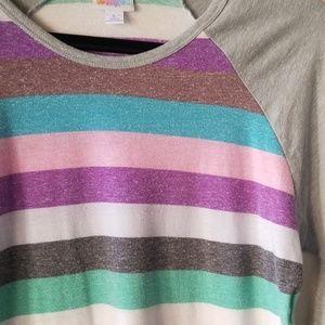 LuLaRoe Tops - LuLaRoe Randy, pastel stripes, L